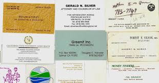 Business Cards Long Beach The Museum Of The San Fernando Valley Collection Of Vintage