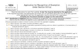 irs form 1024 tax exemption for other organizations