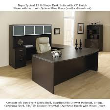 Desk U Shaped U Shape Office Desk Suite W Hutch 72inch X 113inch