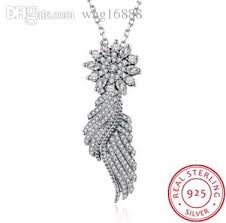 sted necklaces wholesale diy925 sterling silver necklaces zircon feather