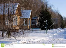 Winter Houses Winter Houses Stock Images Image 13724544
