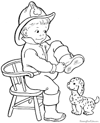 free halloween fireman coloring kids coloring pages