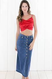 denim maxi skirt denim the 70 s denim maxi skirt done right today