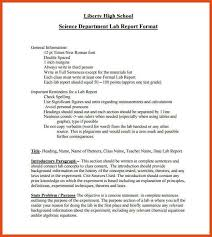 formal lab report template lab report format moa format