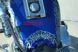 custom airbrush paint tribal and celtic designs on motorcycles