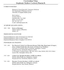 Ashp Letter Of Intent by Resume Clinical Pharmacist Resume