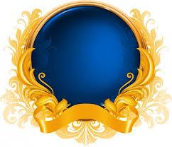 blue gold ribbon badge free vector 13 515 free vector