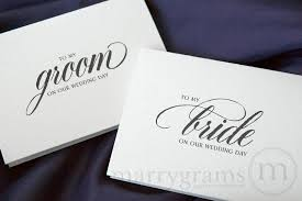 wedding card to groom from my or groom wedding day card calligraphy style
