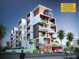 3d apartment 3d ultramodern apartment exterior day rendering and elevation