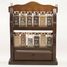 Spice Rack Wall Mount Wood Decorating Lovable Wooden Spice Rack Furnishing Your Winsome