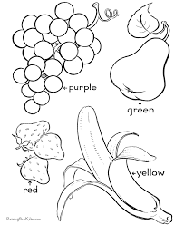 Fruit Coloring Print Color Educational Coloring