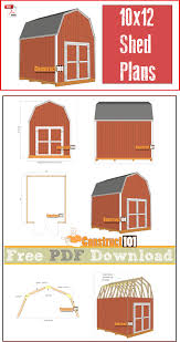 Gambrel Floor Plans Shed Plans 10x12 Gambrel Shed Pdf Download Gambrel Shopping