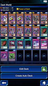 membuat game yugioh yu gi oh duel links dark world deck explained player one