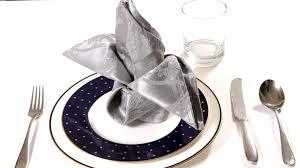how to make fancy table napkins how to fold a napkin into a crown napkin folding youtube