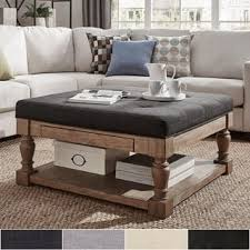 padded coffee table cover square ottomans storage ottomans for less overstock com