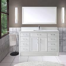 Studio Bathe Kalize by Studio Bathe Calais 60 In White Single Vanity With Mirror