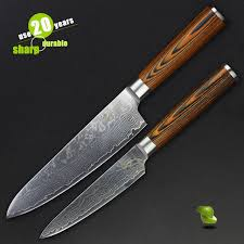 Restaurant Kitchen Knives Haoye 2 Kitchen Knives Set Japanese Vg10 Quality Damascus