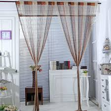 white room divider bookcase 2pc line string window curtain elegant
