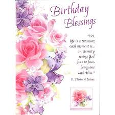 blessing cards birthday blessing all occasion card society of the flower