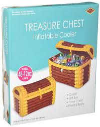 amazon com inflatable treasure chest cooler holds apprx 48 12 oz