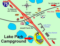 Valdosta Map Lake Park Georgia Rv Campground Directions And Interactive Map