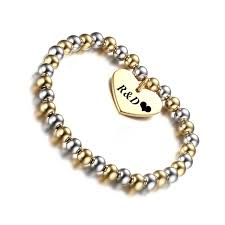 Name Bracelets Gold Dropshipping Silver Gold Stainless Steel Ball Beads Chains Name
