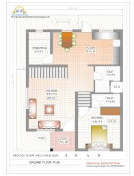 Ground Floor And First Floor Plan by First Floor Plan Of 1000 Sqfeet Collection Also Duplex House And
