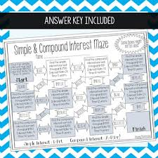 simple u0026 compound interest maze by amazing mathematics tpt
