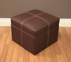 amazon com delaney small square storage ottoman brown kitchen