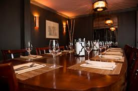 private dining at domaine hudson fine dining restaurant in