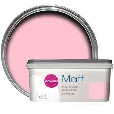 colours standard pink pink flat emulsion paint 2 5l departments