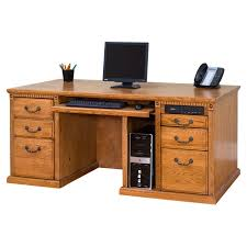 Wood Computer Desks by Ikea Long Wood Computer Desk For Two Decofurnish