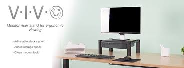 amazon com vivo height adjustable computer monitor stacked desk