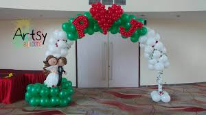 wedding arch balloons wedding themed balloon arch singapore balloon decoration