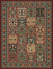 Patchwork Area Rug Patchwork Area Rugs Rectangle Brown Ethnic Pattern Luxurious Wool