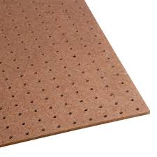 Decorative Metal Sheets Home Depot 1 4 In X 4 Ft X 8 Ft Tempered Pegboard 210552 The Home Depot