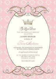 princess baby shower invitations templates orax info