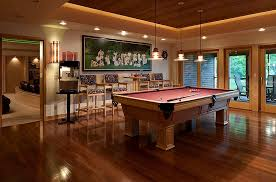 Pool Table Ceiling Lights How To Make Your Ceiling Look Higher Basement Pool Basements