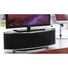 Glass Tv Cabinets With Doors by Mda Designs Luna Av High Gloss Black Oval Tv Cabinet Up To 55