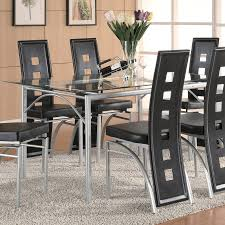 Glass Dining Room Sets Shop Coaster Fine Furniture Los Feliz Glass Dining Table At Lowes Com