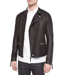 leather riding jackets for sale helmut lang asymmetrical leather rider jacket in black for men lyst