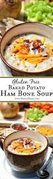 gluten free baked potato ham bone soup breezy bakes