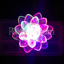 online shop color changing led lotus flower romantic mood lamp