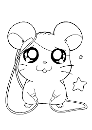 hamtaro coloring pages printable cartoon coloring pages of