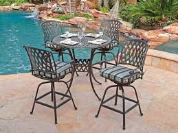 Bar Height Swivel Patio Chairs Wrought Iron Patio Bar Stools Rustic Marvellous Height Table