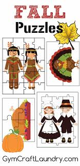 fall and thanksgiving puzzle activities printables craft laundry