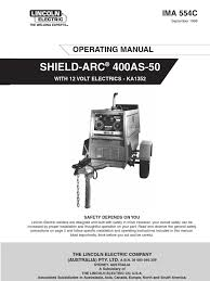 400as 50 welding internal combustion engine