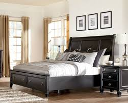 Sleigh Bed With Storage Chicago Furniture Black Storage Bed Ashley Store