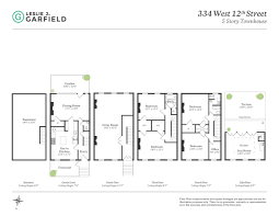 3 storey townhouse floor plans 165 year old west village townhouse with verdant rooftop solarium