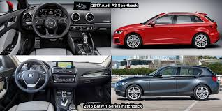 audi a3 vs bmw 3 series benim otomobilim 2017 audi a3 sportback vs 2016 bmw 1 series